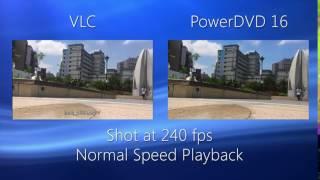 PowerDVD  Slow Motion Playback Comparison   CyberLink