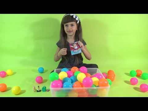 Василиса ищет сюрпризы в шариках и делает обзор игрушек Шопкинс Филли Королевские питомцы Лего