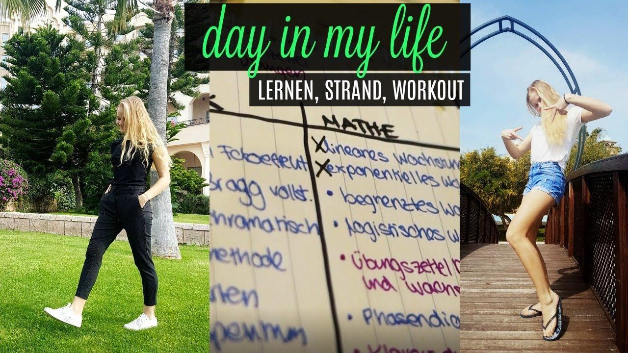 lernen im urlaub strand workout  youtube