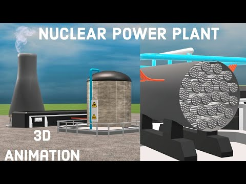 HOW A NUCLEAR POWER PLANT WORKS ?.. || NUCLEAR REACTION || 3D ANIMATION || LEARN FROM THE BASE