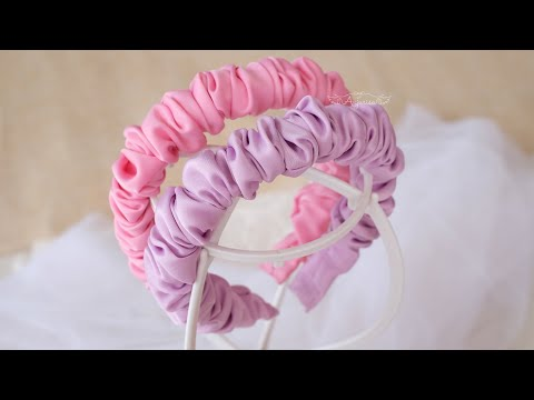 PERFECT Scrunchies Headband DIY - How To Make Hard Headband by Sewing Scrunchies For BEGINNERS 🥰