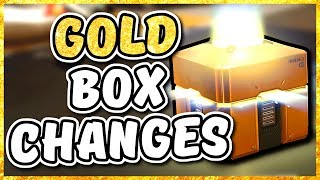 Overwatch - changes for the gold loot box