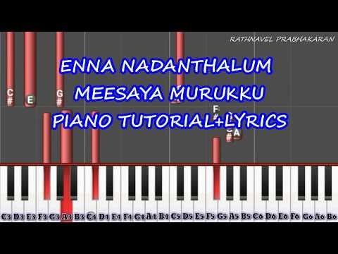 Enna Nadanthalum - Meesaya Murukku Piano Tutorial   Lyrics   Piano Synthesis