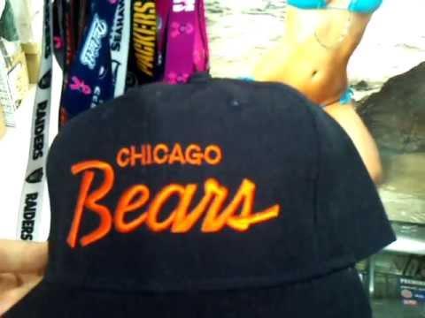 NFL DeadStock Sports Specialties Script SnapBack Cap   Chicago Bears ... 771d865db