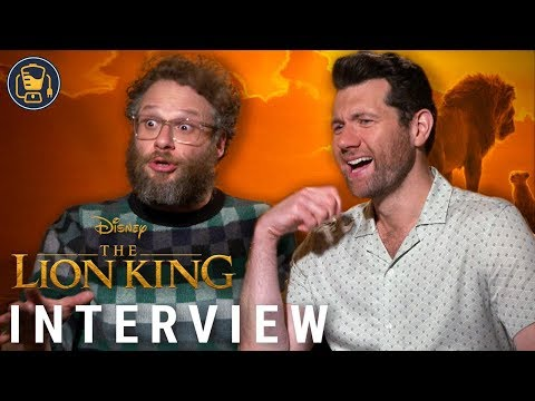 The Lion King Exclusive s with Seth Rogen Billy Eichner and More