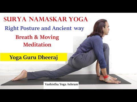 surya namaskar  mantra breath  moving meditation  sun