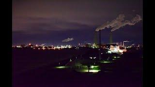 発電所LNG基地と東京夜景 千葉県袖ヶ浦市「袖ヶ浦海浜公園」