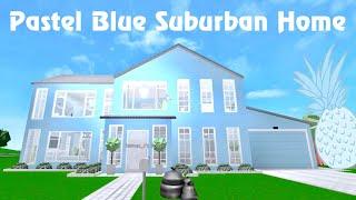 Pastel Blue Suburban House - Roblox Bloxburg