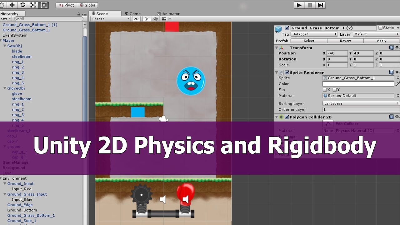 Unity 2D Physics Rigidbody Tutorial