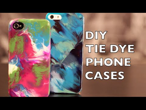 DIY How to Decorate Your Phone Case | Tie Dye With Nail Polish