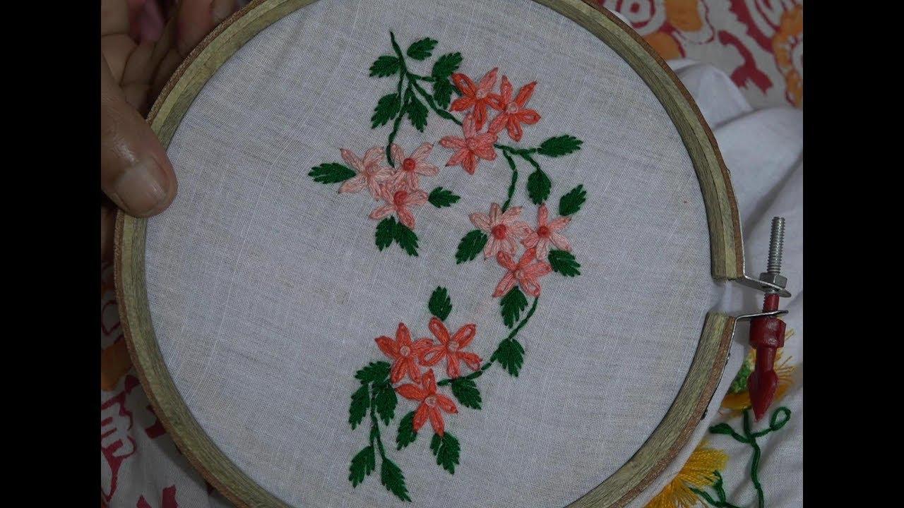 Hand embroidery lazy daisy stitch youtube