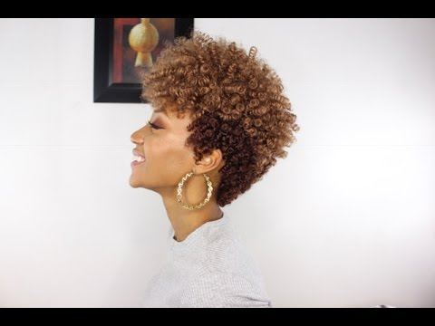 Tapered Cut Hairstyle Using Curlkalon Curls Install