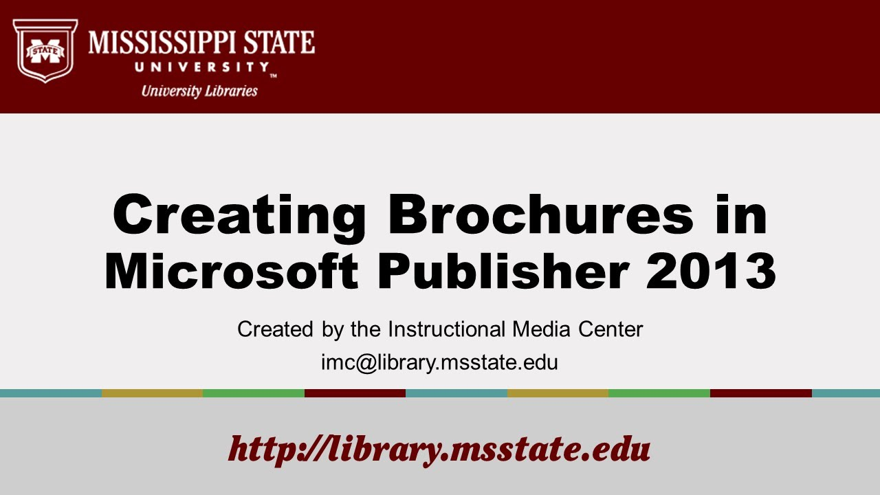 creating brochures in publisher 2013 youtube