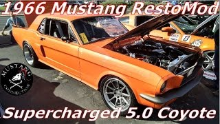 Supercharged 1966 Mustang 5.0 Coyote powered Restomod Mustang Connection