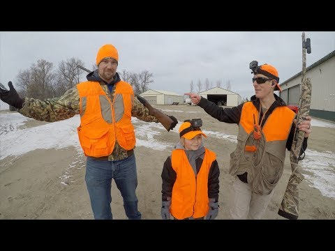 Pheasant Hunting & 🚜Tractor Trick Shot With MN Millennial Farmer | Gould Brothers