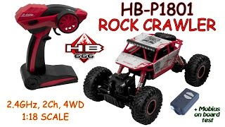 HB-P1801 Rock Crawler 2.4GHz, 2Ch, 4WD, (1:18 Scale) (RTR) + Mobius on board