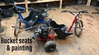 finishing the motorized trikes