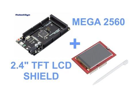 """Arduino Mega 2560 + 2.4"""" TFT LCD SHIELD"""