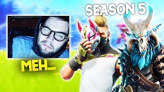 STREAMERS REACT TO SEASON 5 - Fortnite Battle Royale WTF & Funny Moments