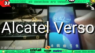 Cricket Wireless Alcatel Verso Review First Hands On Impressions Is It Worth It?