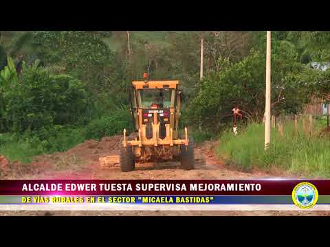 ALCALDE PROVINCIAL EDWER TUESTA HIDALGO SUPERVISA MEJORAMIENTO DE VÍAS EN EL SECTOR MICAELA BASTIDAS
