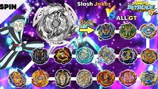 【Slash Joker VS ALL GT】 Beyblade Burst GT Marathon 베이블레이드 버스트 슬래시 조커 VS 올진검 GT 마라톤 배틀 ベイブレードバーストDB