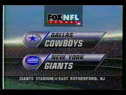 NFL on FOX - 1996 Week 13 Cowboys vs Giants - open