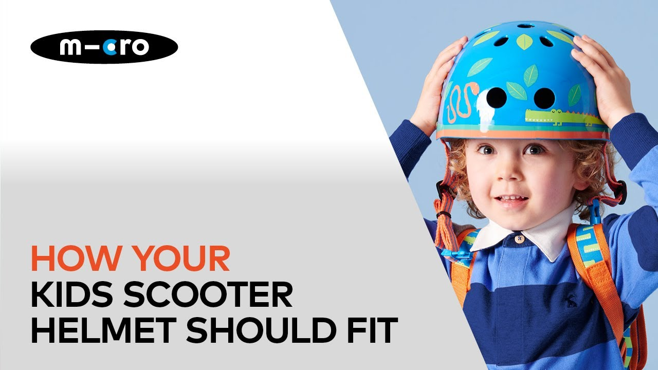 f1b22d8210b How your kids scooter helmet should fit - YouTube