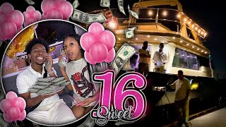 I GAVE MY SISTER $16,000 FOR HER SWEET 16 ON A YACHT! *She Cried*