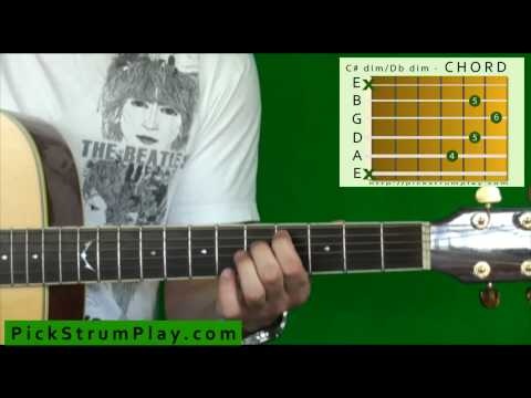 how-to-play-a-c-sharp-dim-/-d-flat-dim-chord-on-guitar