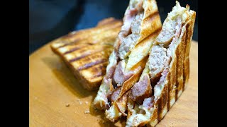 Sausage Bacon Mustard Toasted Sandwich - Youtube