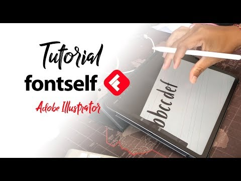 Tutorial Fontself untuk adobe Illustrator