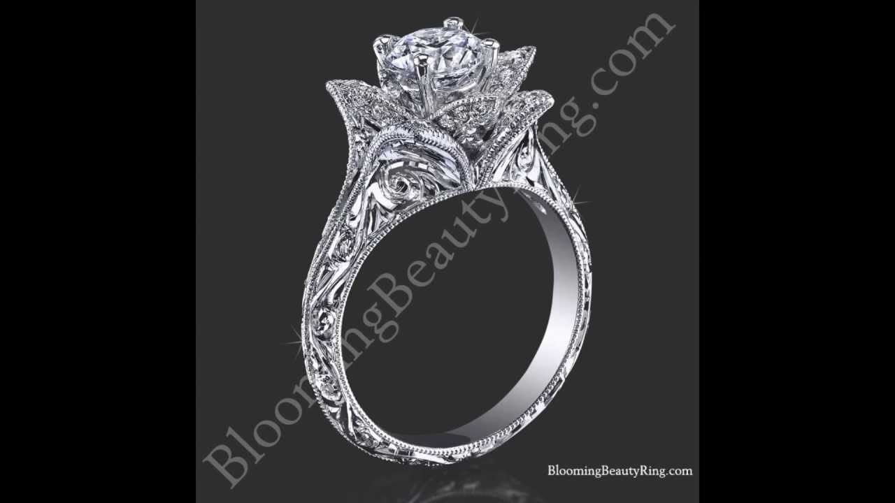 Blooming beauty lotus flower ring with matching band video youtube blooming beauty lotus flower ring with matching band video mightylinksfo
