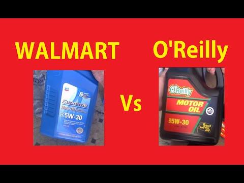 Best Price Motor Oil Comparison ~ Walmart vs O'Reilly's ~ Automotive Video