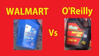 Best Price Motor Oil Comparison ~ Walmart vs O