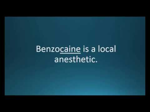 How to pronounce benzocaine (Dermoplast) (Memorizing Pharmacology Video Flashcard)