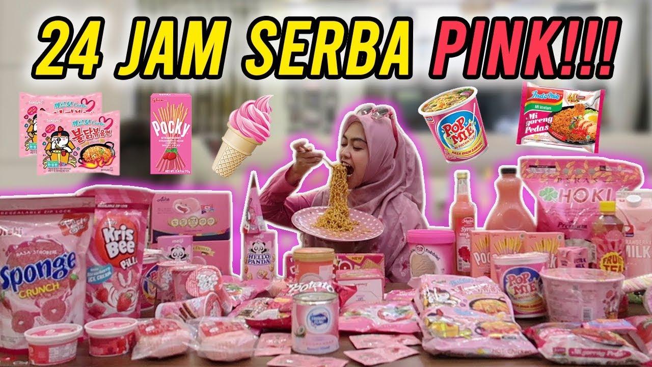 24 Jam Makan Yang Warna Pink Terbanyak Seindonesia Youtube