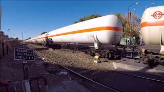 Tráfico ferroviario de mercancías peligrosas en el municipio de Murcia