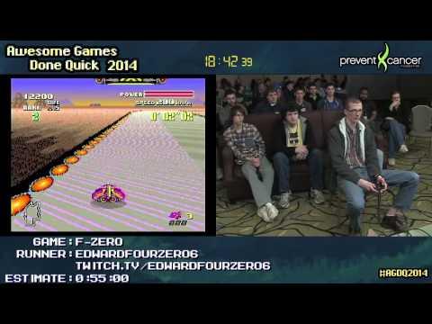 F-Zero SPEED RUN (0:44:49) :: Master GP (Fire Stingray) by EdwardFourZERO6 #AGDQ 2014 [SNES]