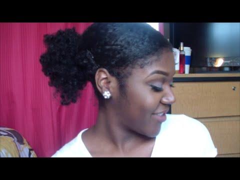 How to sleek ponytail on short natural hair youtube pmusecretfo Choice Image