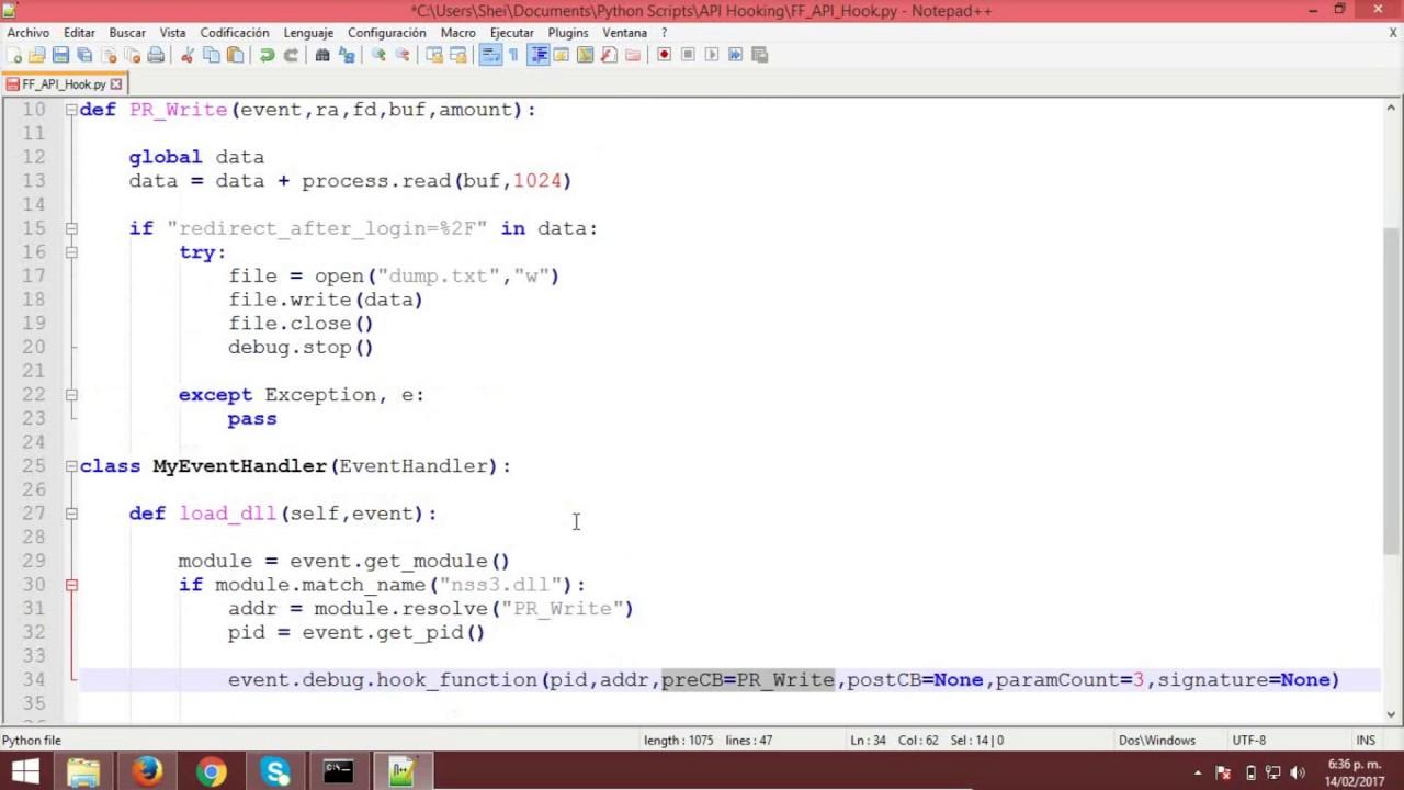 API Hooking con Python by Una Piba Geek