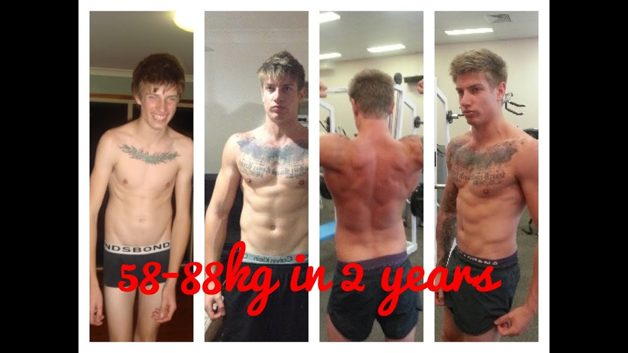 skinny to muscular body transformation 30kg gain - youtube, Muscles