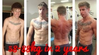 skinny to muscular body transformation 30kg gain