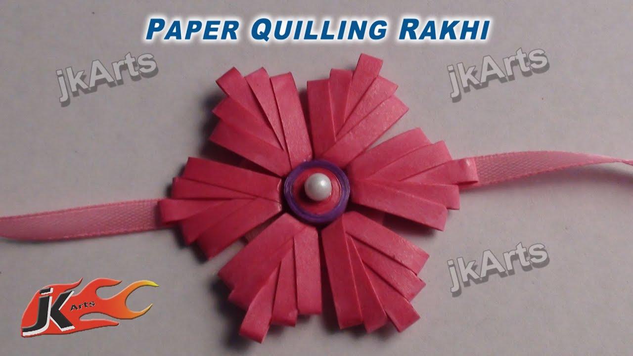 Papercraft DIY Paper Quilling Rakhi For Raksha Bandhan - JK Arts 360