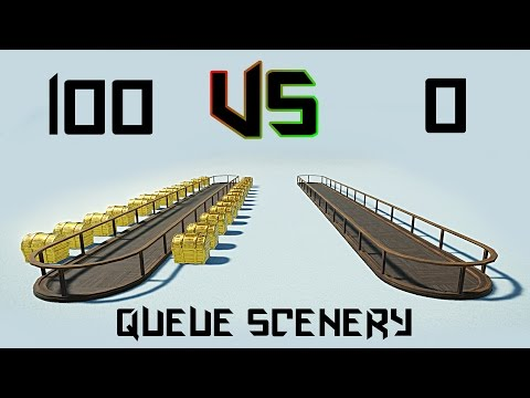QUEUE SCENERY EXPERIMENT! Planet Coaster Tutorial 28