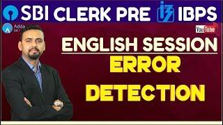 SBI CLERK PRE, IBPS 2018 - Error Detetction By Saurabh Sir thumbnail