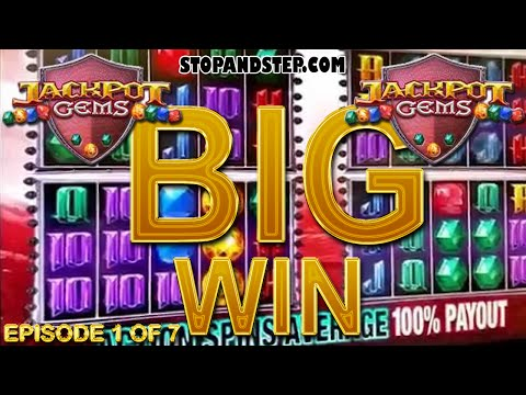 Jackpot Gems slot machine BIG GAMBLE - Episode 1 of 7