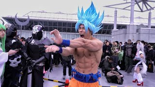 One of Gokuflex's most viewed videos: BEST COMIC CON 2017 | SSJ BLUE GOKU COSPLAY