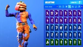 BEEF BOSS HAMBURGER HEAD SKIN SHOWCASE WITH ALL FORTNITE DANCES - EMOTES