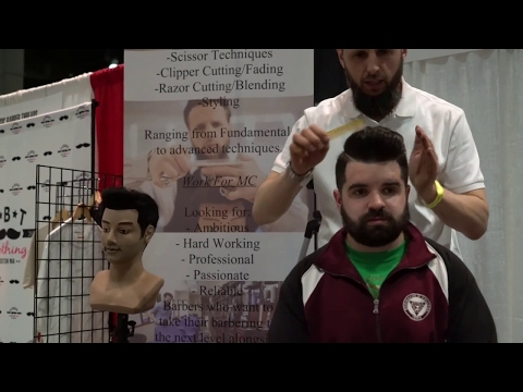 [ Hair Style for Men 2017 ] Connecticut Barber Expo 2017 Haircut